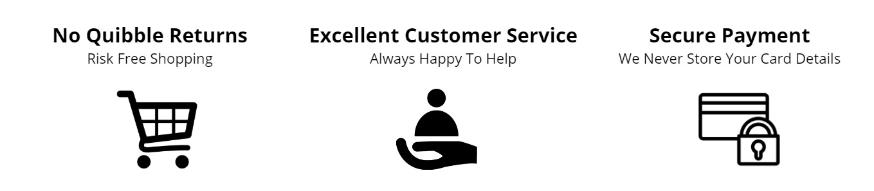Secure Payment, Easy Returns and Customer Service